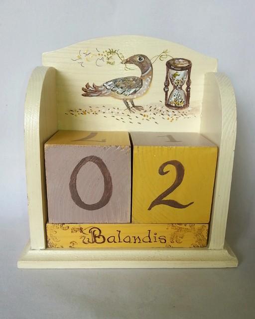 """Amžinas kalendorius """"Smėlio laikrodis"""""""