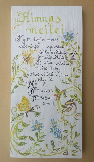"""Medžio tapyba """" Himnas meilei"""""""