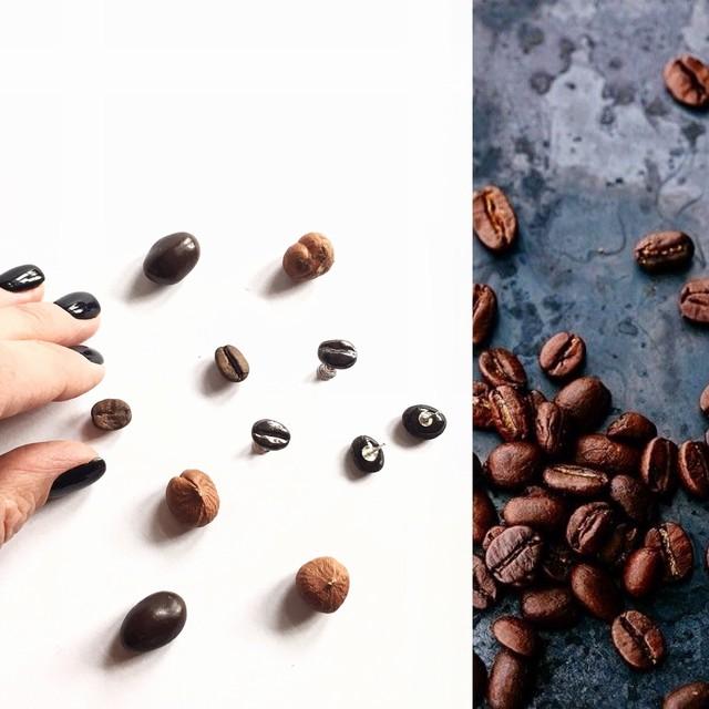 "Keramikos auskarai ""Kavos pupelės"""